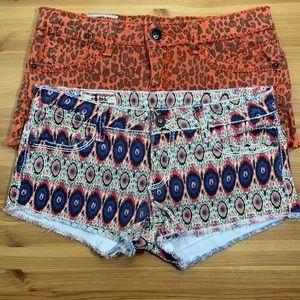 1st Kiss distressed shorts 🌞🌴 bundle (2) size 5